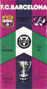 Cover des Match-Programms vom Rückspiel am 2. Oktober 1974 in Barcelona.