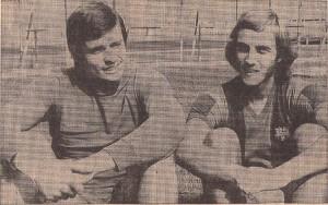 Keeper Pere Valenti Mora (links) und Johan Neeskens sind vor dem Spiel zuversichtlich. Foto: Pilgerstorfer