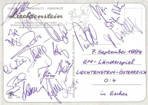 ÖFB-Kader 07 09 1994 in Eschen