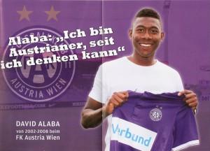 Violette Grüße aus München sandte kein Geringerer als Neo-Sportler des Jahres David Alaba. Bilder sagen mehr als Worte. Foto: FAK
