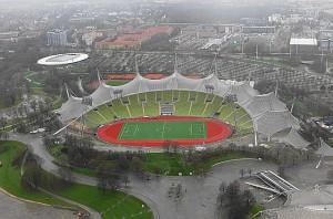 Unglaublich, aber wahr – auch hier wurde 2. Bundesliga in Form des TSV 1860 München gespielt. Blick auf das Münchner Olympiastadion. Foto: oepb.at