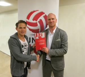 Bundesliga-Vorstand Christian Ebenbauer (rechts) und Stefan Rakowitz. Foto: Bundesliga