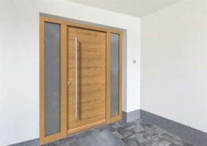 GAULHOFER Holz-Haustüre Design astig. Foto: Gaulhofer