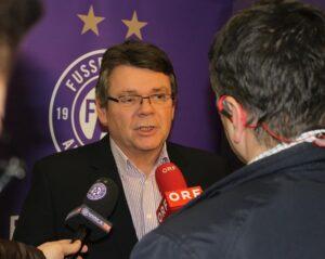 FK Austria Wien-Präsident Wolfgang Katzian. Foto: FAK