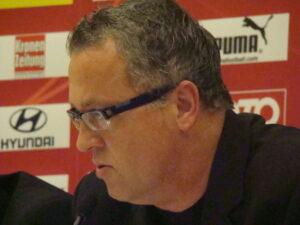 Franz Wohlfahrt anlässlich einer ÖFB-Pressekonferenz. Foto: oepb