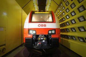 Auf Herz und Nieren geprüft wurde der ÖBB cityjet im Klima-Wind-Kanal. Foto: ÖBB