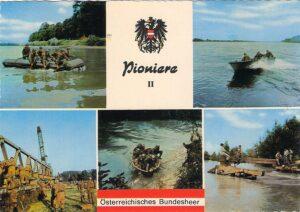 Alte Pionier-Postkarte des Österr. Bundesheeres.