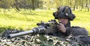 Alarmstellung für das überschwere Maschinengewehr. Foto: BMLVS/Gerhard SIMADER