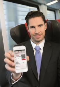 Das ÖBB Mobile Ticket erfreut sich zügiger Beliebtheit. Foto: ÖBB/Eisenberger