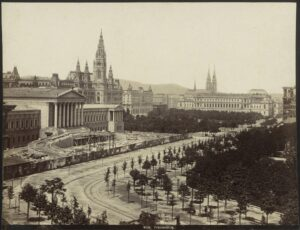 Blick auf das Parlament um 1882. Foto: ÖNB