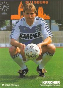 Autogrammkarte Michael Tönnies, MSV Duisburg, Spielzeit 1991/92.