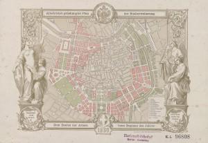 """""""Allerhöchster genehmigter Plan der Stadterweiterung"""" von 1860. Foto: ÖNB"""