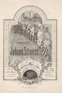 Titelblatt DemolirerPolka von Johann Strauß im Jahre 1862. Foto: ÖNB