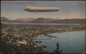 Bregenz mit Zeppelin (um 1923).
