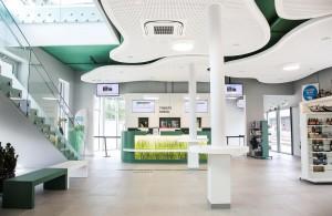 Mit dem Neubau hält auch die Tourismusinformationsstelle Einzug in das Bahnhofsareal. Foto: RIGIPS/Christopher Kelemen