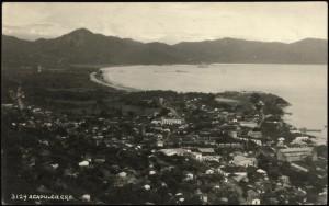 Blick auf Acapulco / Mexiko um 1936.