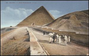 Die Pyramiden in Ägypten um 1914.