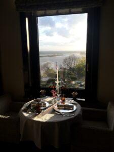 ... wundervoll verträumten Ausblick auf die Elbe ...