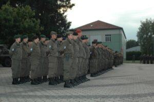 Das Kontingent ist zur Verabschiedung angetreten. Foto: Bundesheer/Nguyen