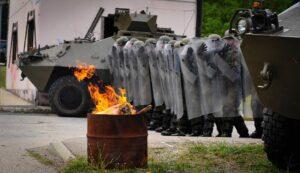 Die Soldaten wurden auf mögliche Einsatzszenarien wie diese vorbereitet. Foto: Bundesheer/Berger