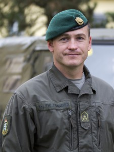 Hauptmann Christian TINNACHER. Foto: BMLVS/Vizeleutnant Gerhard SIMADER