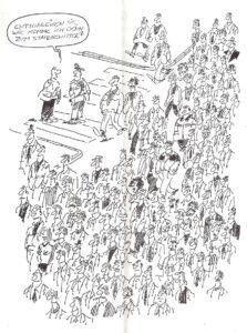 Einer von zahlreichen Cartoons aus dieser Epoche. Bild: STEX/Linzer Stahl-Express
