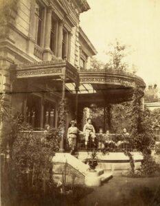 Die heute verschwundene Villa Hochstätter in Wien-Erdberg nach dem Jahre 1866. Foto: Andreas Groll / Akademie der Wissenschaften in Prag