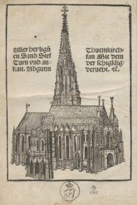 Stephansdom, Wiener Heiltumsbuch, Druck Wien, 1502. Bild: ÖNB