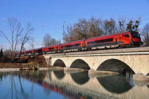 Mit den Railjet Zügen ab Salzburg wieder über die Saalachbrücke nach München reisen  ab morgen Realität. Foto: ÖBB