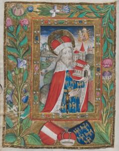 Heiliger Leopold: Gebetbuch für Kaiser Friedrich III. (1415-1493) Handschrift Wien, um 1470/90. Bild: ÖNB