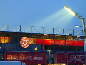 Die freundlich beleuchtete GENERALI-Arena gestern am späten Nachmittag. Foto: oepb