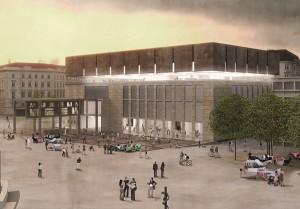 Ein WIEN MUSEUM Rendering Siegerprojekt-Blick in die Zukunft. Bild: Winkler, Ruck, Certov