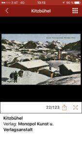 Kitzbühel Ansichtskarte in App. Foto ÖNB