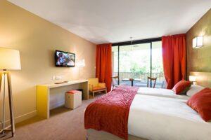 Die Quartiere für die ÖFB-Auswahl wurden vorsorglich bereits in Rot-Weiß-Rot gehalten. Foto: Hotel Moulin de Vernègues