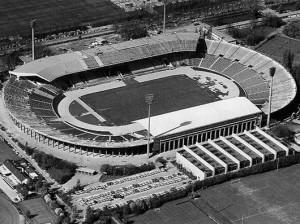 Das seinerzeitige Neckar Stadion des Jahres 1974 aus der Vogelperspektive. Foto: Archiv der Stadt Stuttgart