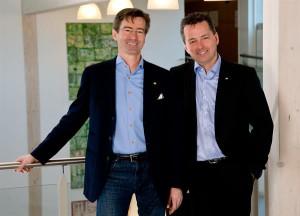 Die beiden GRIFFNER Geschäftsführer Mag. Georg Niedersüß (links) und Dr. Stefan Jausz blicken zuversichtlich in die Zukunft. Foto: tinefoto.com | martin steinthaler