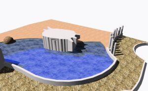Visualisierung des neuen Badebeckens. Foto: Architekt Dipl. Ing. Herbert Glanznigg