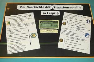 Im Museum in den Stadion-Katakomben ist die Geschichte des Leipziger Fußballs dokumentiert. Foto: oepb