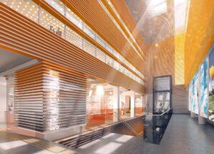 Die Wien Energie-Welt Spittelau vereint Servicezentrum, Kultur-Point und Energieberatung unter einem Dach. tgaplan+ Beratende Ingenieure ist für die Planung und Bauüberwachung der gesamten Haus- und Elektrotechnik zuständig. Foto: Architekt Handsur, Söhne und Partner Architekten