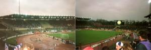 Das Walstadion zu Frankfurt in seiner ganzen Pracht der 1970er und 1980er Jahre. Hier im März 1994 beim Europapokal-Spiel gegen Austria Salzburg. Foto: oepb
