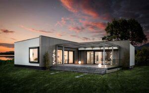 Die GRIFFNER Bungalowlinie MOMENTS folgt dem Trend zum bequemen, offenen Wohnen auf einer Ebene. Foto: GRIFFNER