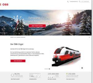 Der neue Web-Auftritt der ÖBB. Foto: ÖBB
