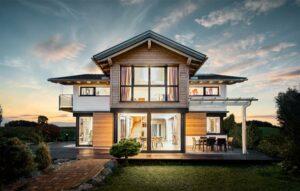 GRIFFNER im Modell CLASSIC den in Österreich besonders beliebten Haustyp mit Steildach auf. Foto: GRIFFNER