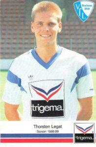 Der knapp 20jährige Thorsten Legat im Dress seines Heimatvereins VfL Bochum von 1848 während der Spielzeit 1988/89. Foto: Sammlung oepb