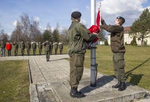 Die Flagge wurde heute das letzte Mal niedergeholt. Foto: Bundesheer / Simader