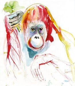 Gemälde Orang-Utan Sol von Margit König