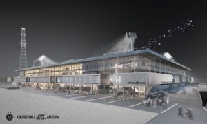 Die neue Generali-Arena der Zukunft 2018 von aussen. Bild: FK Austria Wien/Andreas Perkmann Berger