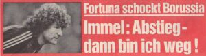 Faksimile kicker / 15.Mai 1986