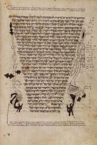 Bibel aus dem Jahr 1298/1299 mit figürlichem Kommentar. Foto: Österreichische Nationalbibliothek