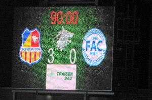 Es ist vollbracht, 3 : 0 gewonnen, 26 Siege bei 36 Runden erzielt, 80 Punkte eingefahren. Der SKN St. Pölten war 2015/16 in der Sky Go Erste Liga nicht zu stoppen. Foto: oepb